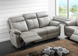 canapé cuir relax canapé 3 places cuir relax victory gris