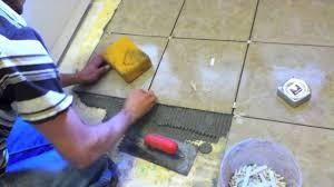 laying and grouting floor tiles youtube