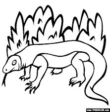 Komodo Dragon Coloring Page