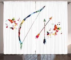 gardine schlafzimmer kräuselband vorhang mit schlaufen und haken abakuhaus modern abstrakt pfeil und bogen kaufen otto