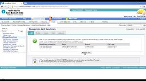 How to add a beneficiary in SBI online banking