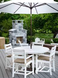 Deck Table And Umbrella