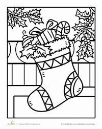 Lovely Inspiration Ideas Stocking Coloring Page Kindergarten Holidays Seasons Worksheets Christmas