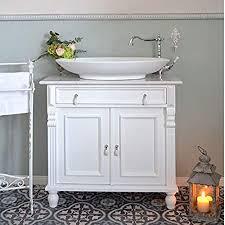 romantischer landhaus waschtisch mit eichenplatte