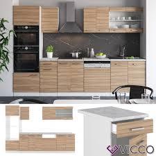 vicco küche r line 300 cm sonoma eiche