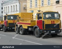 100 Emergency Truck Redyellow On Asphalt Road Stock Photo Edit Now