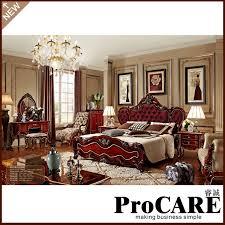 klassischen braun soild holz schlafzimmer möbel set tuchkunst bett luxus villa möbel
