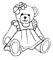 Cheerful Teddy Bear Coloring Page Printable Pages