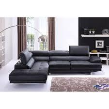 canapé grand angle canapé grand angle en cuir avec têtières réglables