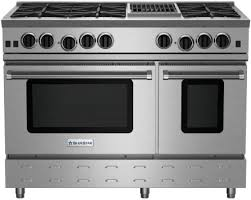 BlueStar RNB486CBV2NG 48 Inch Gas Range with 6 Open Burners 12 Inch Charbroil Grill UltraNova Burners Precise Simmer Burner 2 Convection Ovens