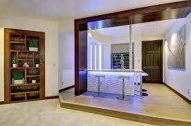 Basement Bar Lighting Ideas Home Contemporary With Counter Stools Wood Trim