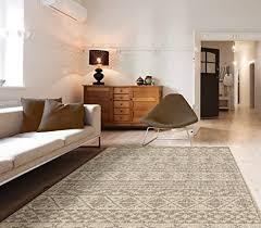 priyate florida collection allwetter teppich für innen und außenbereich boho chic für wohnzimmer schlafzimmer und esszimmer 5 3 x 7 6 neutral