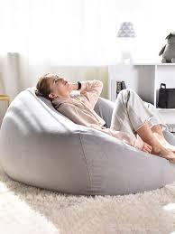 lazy sofas cover stühle leinen stoff liege sitz sitzsack