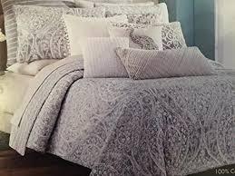 Tahari Home Bedding by Bedding Set Grey And Silver Bedding Supreme Light Grey Duvet