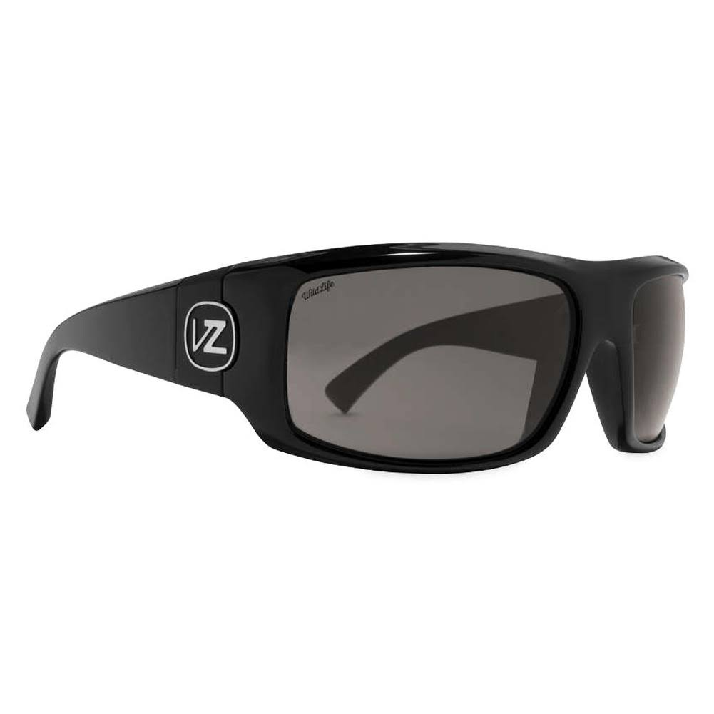 VonZipper Clutch (Black gloss/wildlife Vintage Grey) Polarized Sunglasses