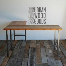 Reclaimed Wood Desk Top Office Furniture Modern Custom Reclaimed Wood Office Furniture Modern Wood Desk Custom L