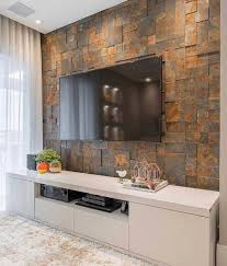 100 Modern Stone Walls Awesome TV Design