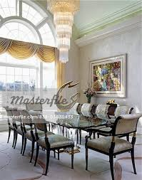 DINING ROOM Modern Tiered Chandelier Glass Table Sculpture On