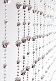 silver beaded door curtain by country club amazon co uk kitchen