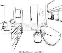 gezeichnet badezimmer skizze badezimmer sketch