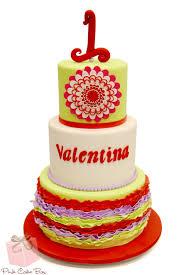 First Birthday and Baptism Celebration Cake