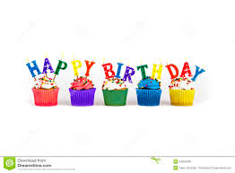 happy birthday cupcakes candles colorful