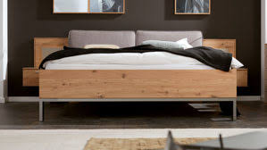 interliving schlafzimmer serie 1008 bettgestell mit nachtkonsolen und aufsätzen