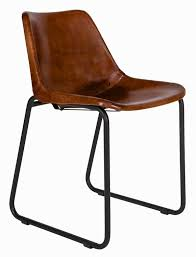 modern schã ner vintage stuhl mit lederbezogener