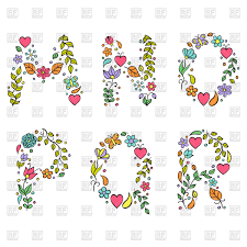 Hand Drawn Floral Letters M N O P Q R Vector Image Of Signs