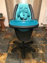 **REDUCED*Mamas & Papas LOOP Stylish'Barstool' Highchair In Rare Black &  Teal Colour, RRP £200! | In East Kilbride, Glasgow | Gumtree