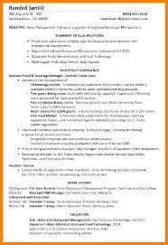 Resume For Hotel ManagementFunctional Sample Management Trainee