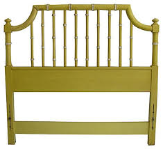 Bamboo Headboard And Footboard by Consigned Vintage Thomasville Faux Bamboo Headboard Twin