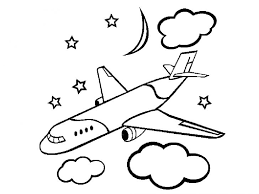 Easy Airplane Drawing Printable Coloring Pages For Kids Free