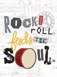 Rock And Roll Feeds The Soul Artwork For Childrens Rooms By Holli Conger