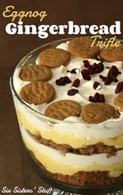 Pumpkin Gingerbread Trifle Gourmet by This Rum Spiked Eggnog Cake With Cream Cheese Frosting And White