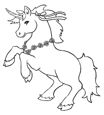 Unicorn Coloring Page Free Printable Pages For Kids Of Animals