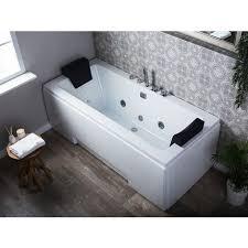 whirlpool badewanne weiß mit farblichttherapie wasserfall modern