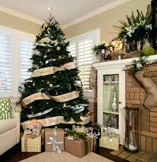 9ft Tree 9 Ft Family Room Traditional With Beige Walls Brick Chimney Brown And