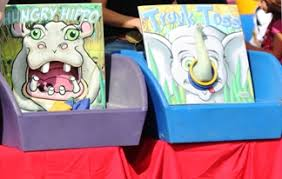 Hungry Hippo Bean Bag Toss And Elephant Ring Carnival Game Rentals