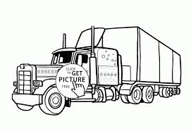 Large Size Of Winsome Semi Coloring Pages Logging Truck Page Outstanding Trailer