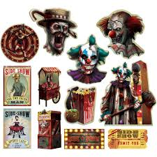 Carnival Scene Setters Halloween by Amazon Com Side Show Halloween Trick Or Treat Party Creepy
