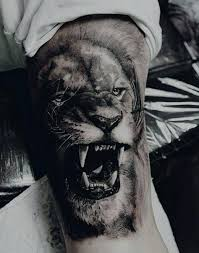 Mens Lion Bicep Arm Tattoos