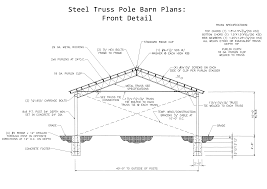 Free Pole Barn Plans With Material List Steel Truss Traintoball