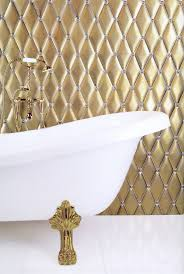Sherle Wagner Italy Sink by 5pcs Gold Pvd Finish Brass Swan Tub Faucet With Shower Head On
