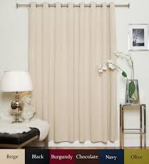 Burgundy Grommet Blackout Curtains by Amazon Com Beige Nickel Grommet Top Thermal Insulated Blackout
