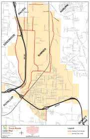 100 Truck Route Map S City Of Sumner