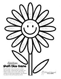 Math Color By Number Worksheets Free Spring Time Facts Dic On Amazing