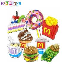 cuisine mcdonald jouet rainbox micro particules assemblé blocs de construction macdonald
