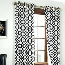 Black And White Curtains Dining Room Striped Curtain