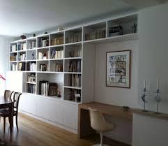 meuble bibliotheque bureau integre bureau bibliothèque intégré idées intérieur